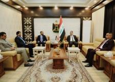الكرعاوي: خلال لقائة وزير التجارة الدكتور علاء الجبوري في العاصمة بغداد