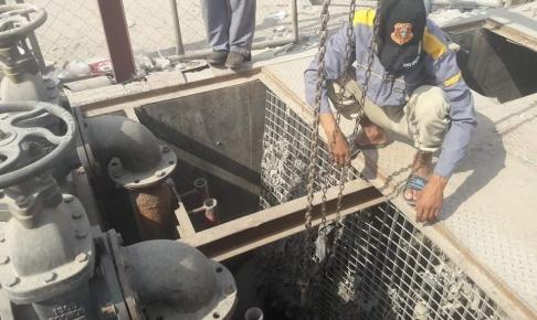 مجاري النجف: الاستعدات لتهيئة الشبكة المياه المطرية في حي الامير