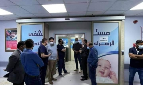 مدير عام صحة النجف الاشرف في زيارة ليلية الى مستشفى الزهراء التعليمي