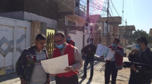 فريق تواصل في محافظة النجف وبالتعاون مع الحكومة المحلية تنفذ حملة لرفع النفايات والانقاض وتصليح كسورات شبكة مياه الشرب