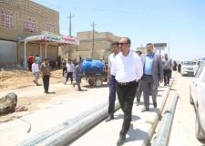 بعد توقف دام لأكثر من خمس سنوات الياسري يتابع اعمال مشروع تاهيل حي الوفاء