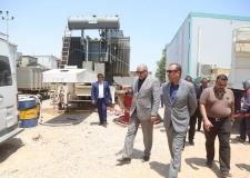 الياسري يتابع مراحل عمل محطة الكهرباء المتنقلة في قضاء الكوفة