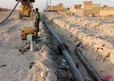 مديرية ماء النجف الاشرف تنفذ شبكة جديدة في منطقة 51 حي النداء لمسافة اكثر من 700متر