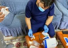 صحة النجف الاشرف فريق مشترك من الصحة العامة يزور مركز الاقامة في النجف الاشرف