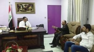 ممثل لجنة رعاية الطفولة في النجف يزور مستشفى الزهراء (ع) التعليمي للأطفال
