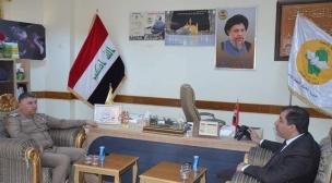 مدير شهداء النجف يستقبل معاون مدير الأحوال المدنية في المحافظة