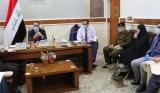 محافظ النجف الاشرف وكالة هاشم الكرعاوي يترأس اجتماع خلية الازمة