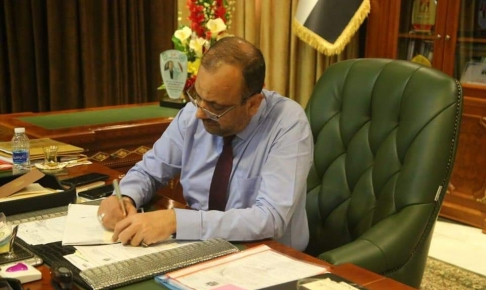 محافظ النجف: يقرر اصلاحات فورية بعد حل مجالس المحافظات