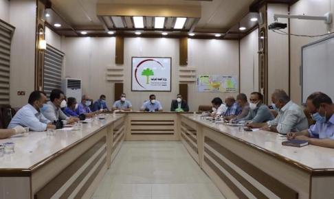 صحة النجف: تناقش اتخاذ اجراءات سريعة في ضوء التطورات الوبائية في المحافظة
