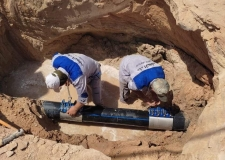 مديرية ماء النجف الاشرف :إصلاح ثلاث خطوط نقل رئيسية في منطقة مظلوم