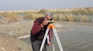 الموارد المائية في النجف الاشرف تقوم بالكشف الموقعي على سداد المبزل الوطني لمنطقة بحر النجف